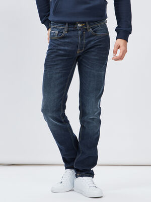 Jeans straight Creeks denim stone homme