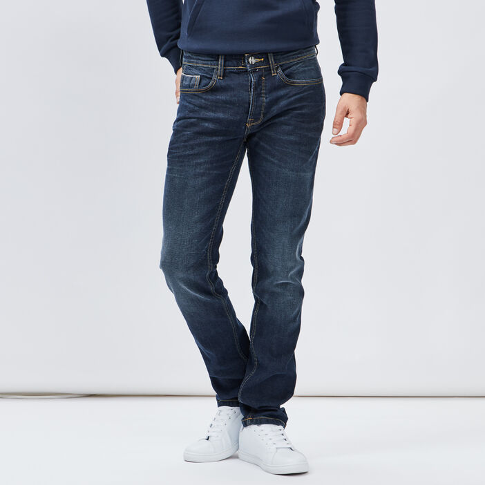 Jeans straight Creeks homme denim stone
