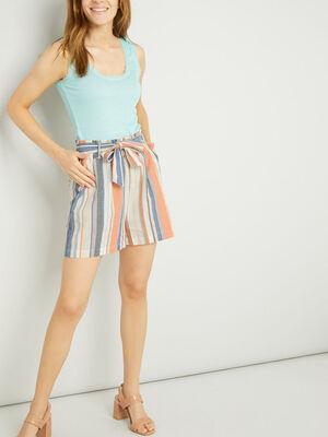 Short Bermuda multicolore femme