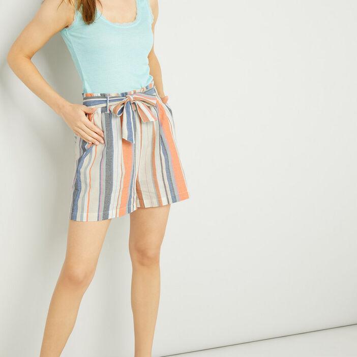 Short, Bermuda femme multicolore