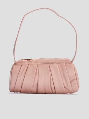 Sac rectangulaire a plis rose clair femme