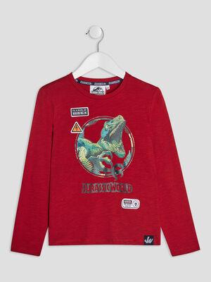 T shirt Jurassic World bordeaux garcon
