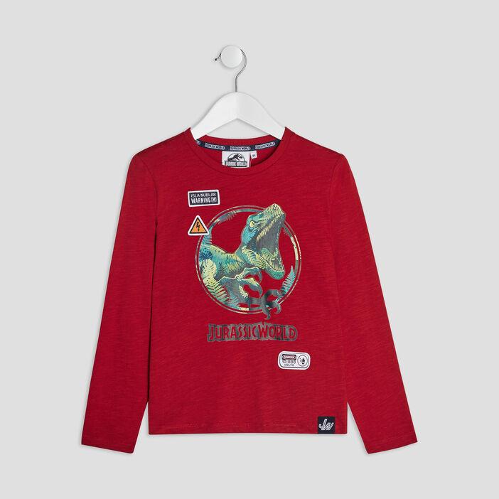 T-shirt Jurassic World garçon bordeaux