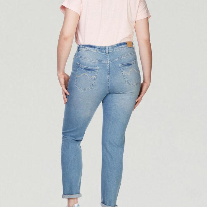 Pantalon uni grande taille femme denim double stone