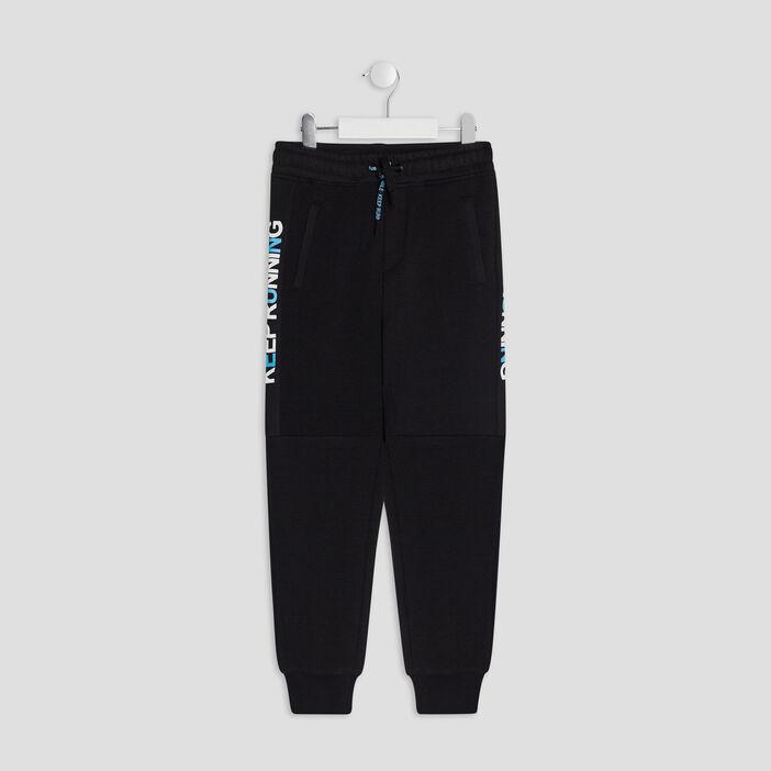 Pantalon jogging garçon noir