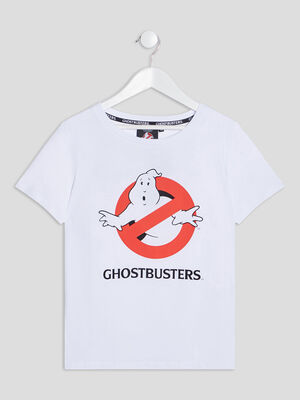 T shirt Ghostbusters blanc fille