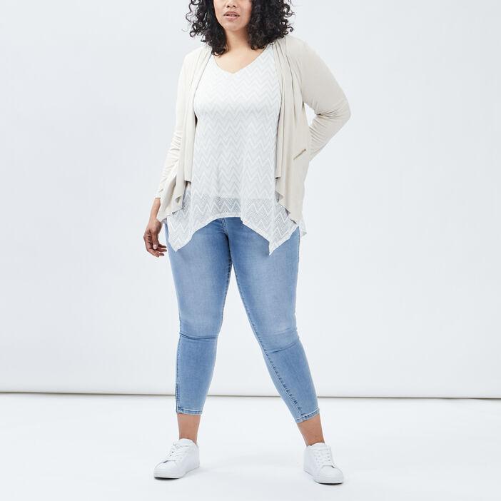 Veste ample grande taille femme grande taille beige