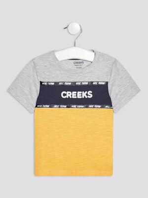 T shirt manches courtes Creeks multicolore bebeg