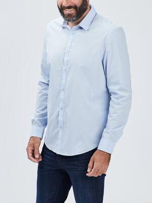 Chemise manches longues Studio bleu ciel homme