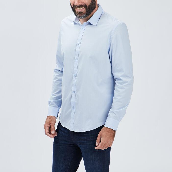 Chemise manches longues Studio homme bleu ciel