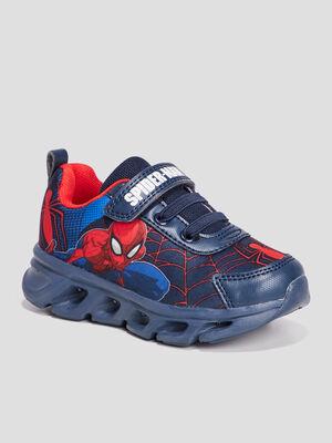 Runnings Spider Man bleu marine garcon