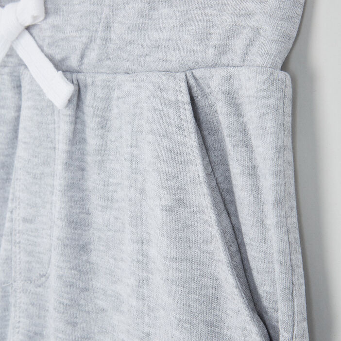 Bermuda chiné taille élastiquée coton garçon gris