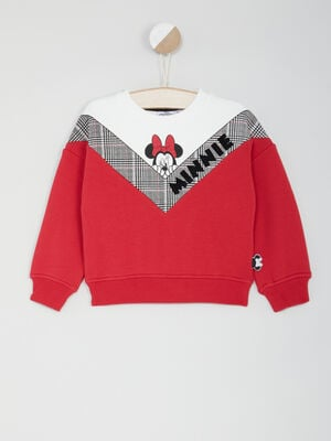 Sweatshirt Minnie esprit color block multicolore fille