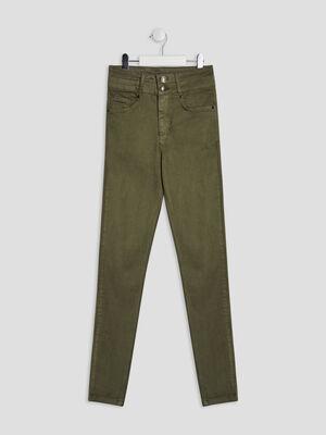 Pantalon skinny Creeks vert kaki fille