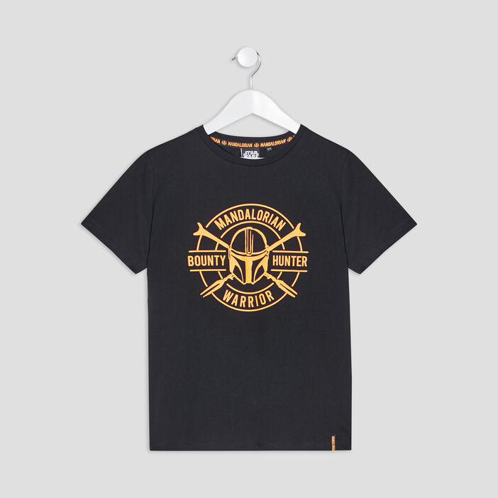 T-shirt The Mandalorian garçon noir
