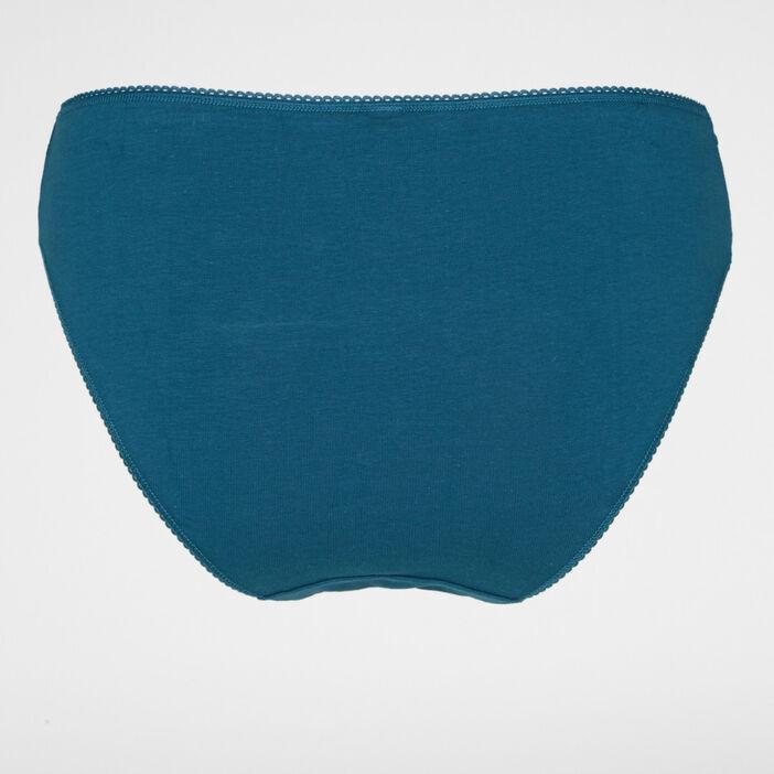 Culotte femme grande taille bleu canard