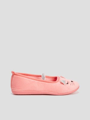 CHAUSSONS orange corail fille