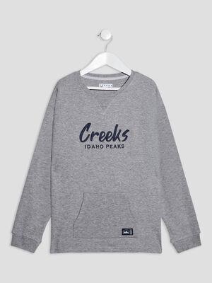 T shirt manches longues Creeks gris garcon