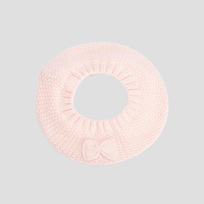 Béret tricoté mixte rose