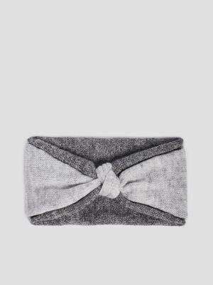 Bandeau tricote gris fonce