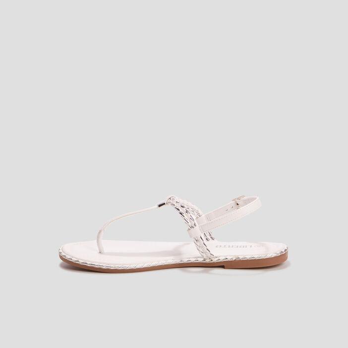Sandales plates Liberto femme blanc