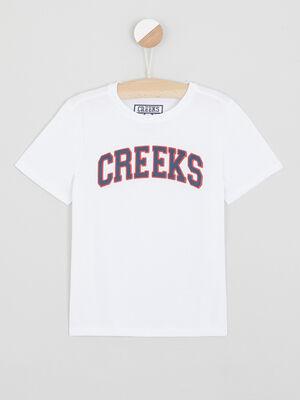 T shirt avec imprime blanc garcon