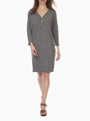 Robe housse maille chinee gris femme