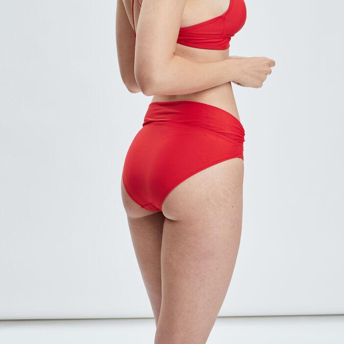 Bas de maillot de bain femme rouge