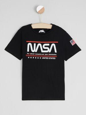 T shirt imprime NASA noir garcon