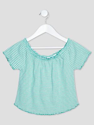 T shirt manches courtes vert fille