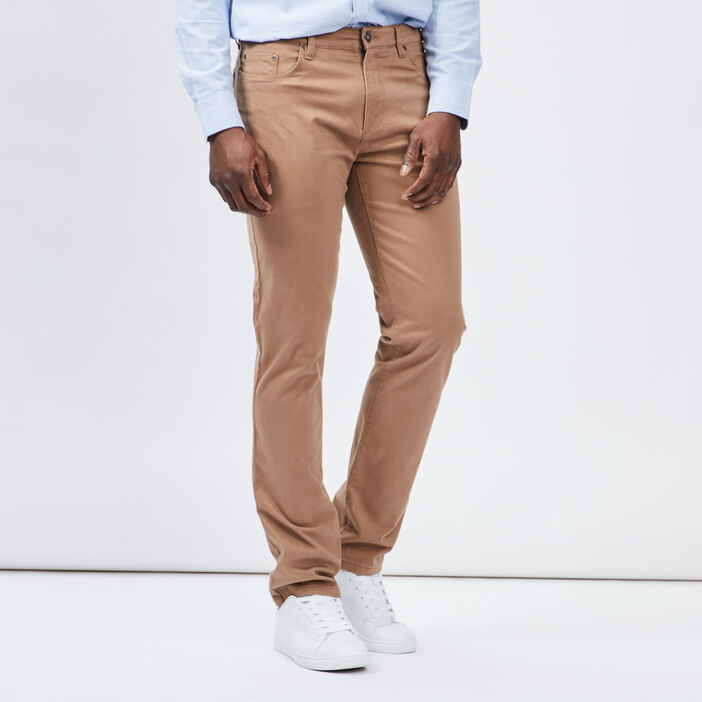 Pantalon droit Trappeur homme beige