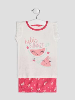 Lingerie bebe rose framboise bebe