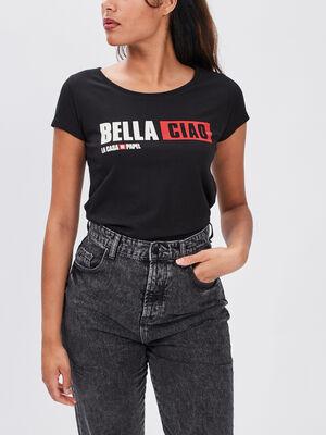 T shirt La Casa de Papel noir femme