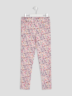 Pantalon tregging rose clair fille