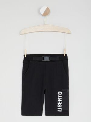 Bermuda short noir garcon