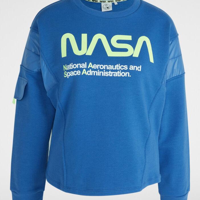 Sweatshirt Nasa avec imprimé femme bleu