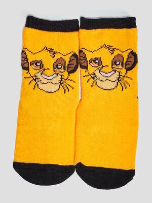 Chaussettes Le Roi lion jaune