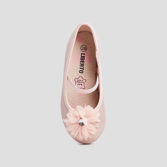 Ballerines avec détails bijoux fille rose