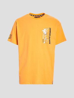T shirt manches courtes Naruto orange homme