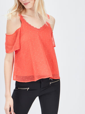 Blouse Mosquitos rouge femme