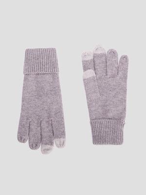 Gants tactiles gris femme