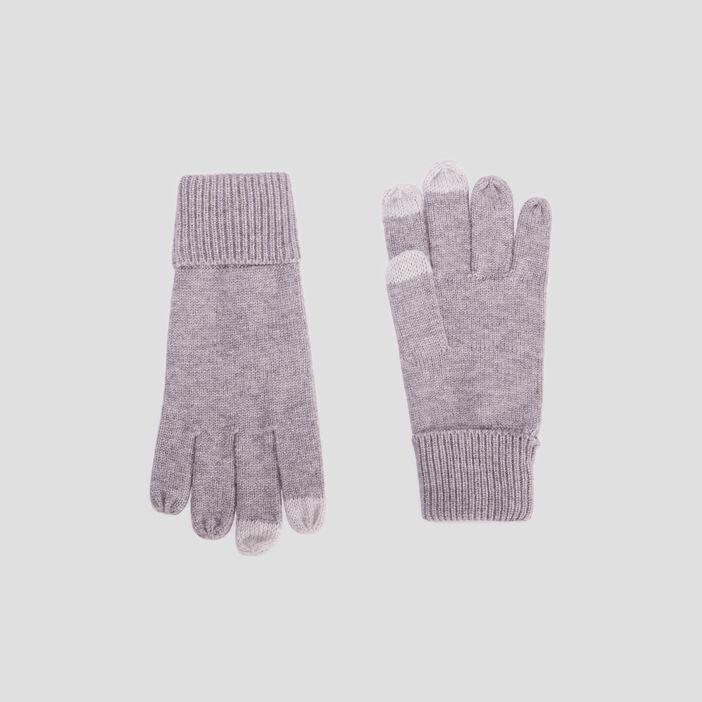 Gants tactiles femme gris