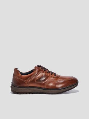 Sneakers a lacets Trappeur marron homme