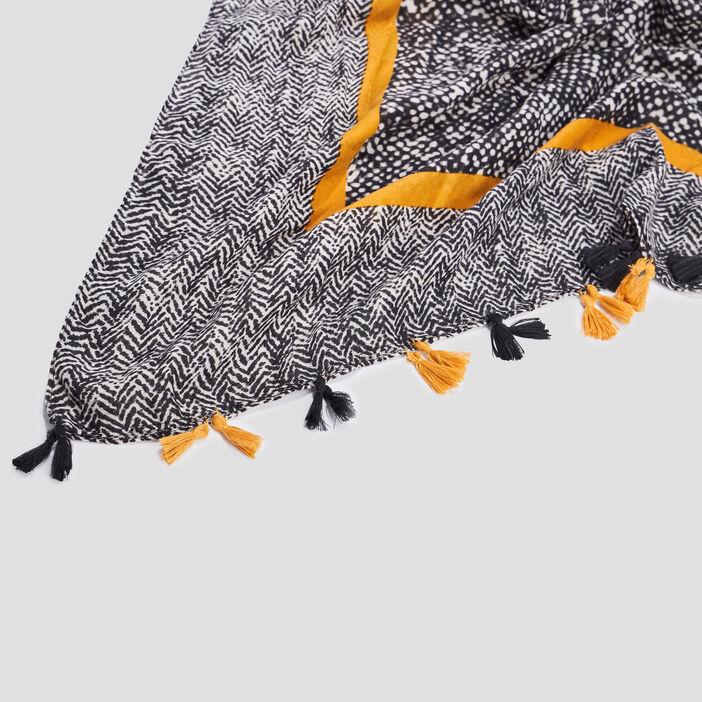 Foulard à pampilles  multicolore