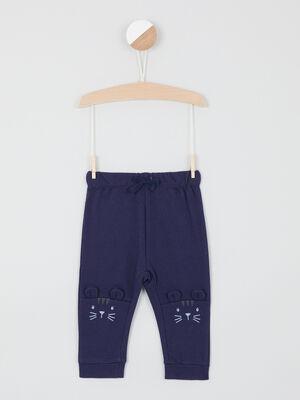 Pantalon taille extensible bleu marine bebeg
