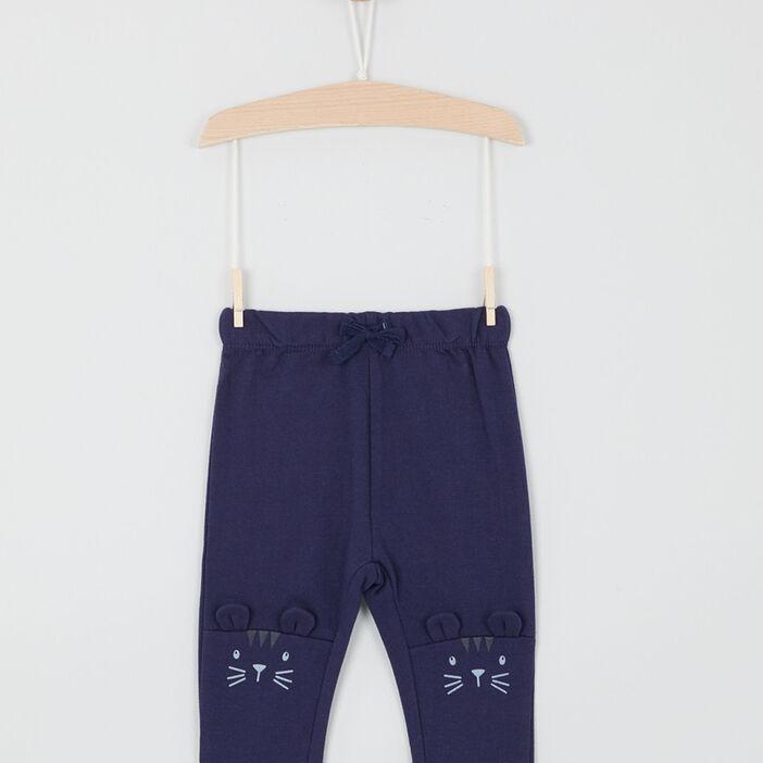 Pantalon taille extensible bébé garçon bleu marine