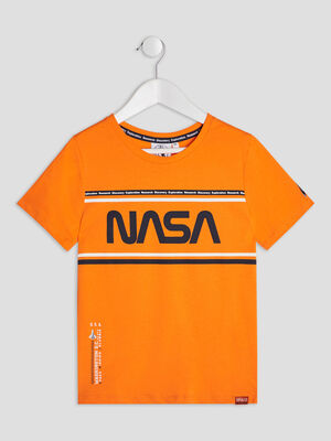 T shirt manches courtes NASA orange garcon