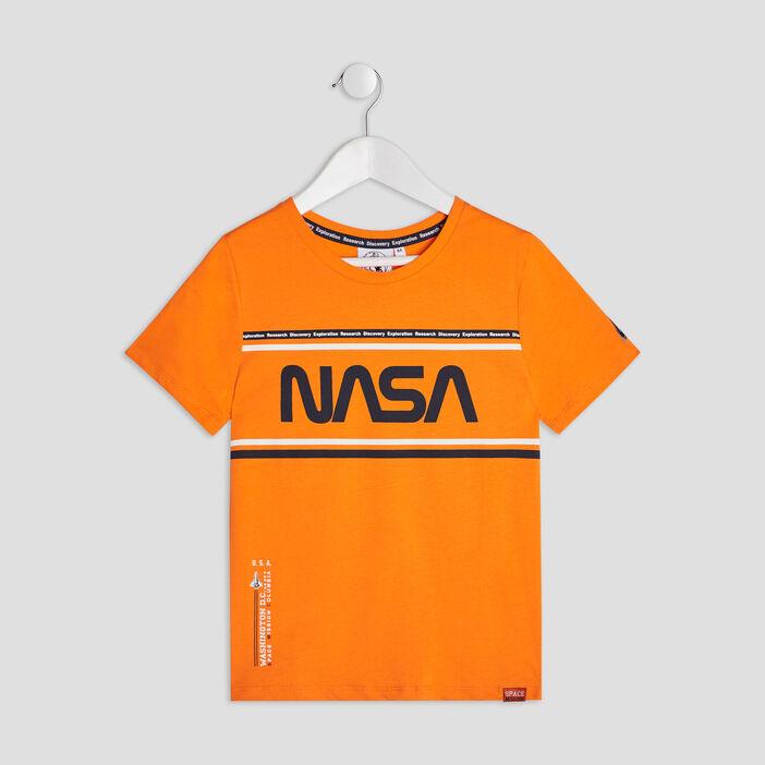 T-shirt manches courtes NASA garçon orange