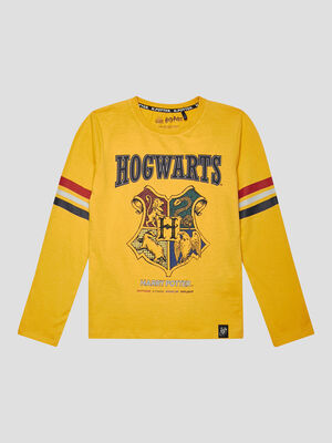 T shirt Harry Potter jaune moutarde garcon