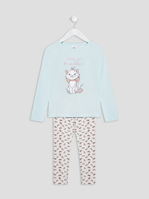 Pyjama Les Aristochats vert fille